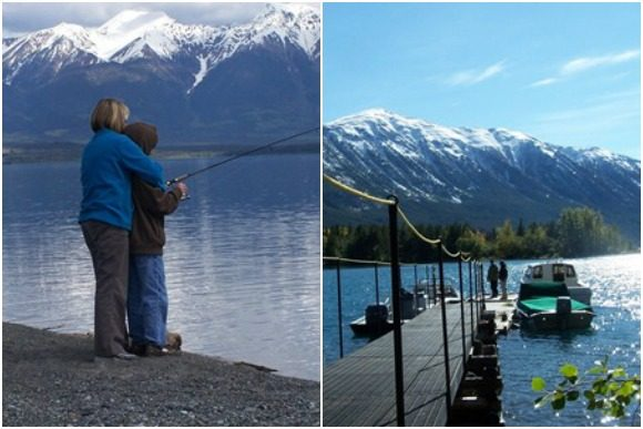 Fishing at The Chilko Experience Wilderness Resort in BC