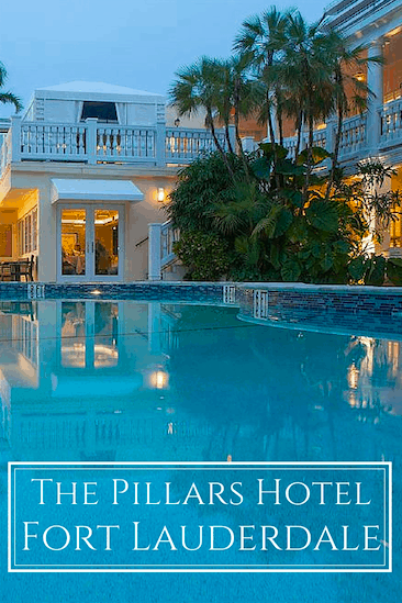 The Pillars Hotel is a boutique luxury hotel in Fort Lauderdale on the intracoastal waterway, and a private dining club, The Secret Garden Restaurant.