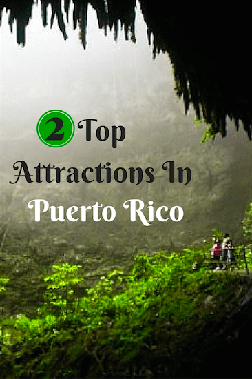 Top Attractions in Puerto Rico to visit: Arecibo Observatory the most powerful radar-radio telescopes and Rio Camuy Caves largest cave system in the world.