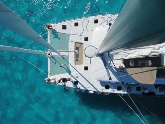 Lagoon 560 Catamaran Deck Area