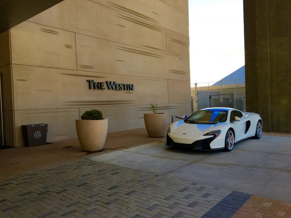 Front entrance of the Westin DIA Hotel