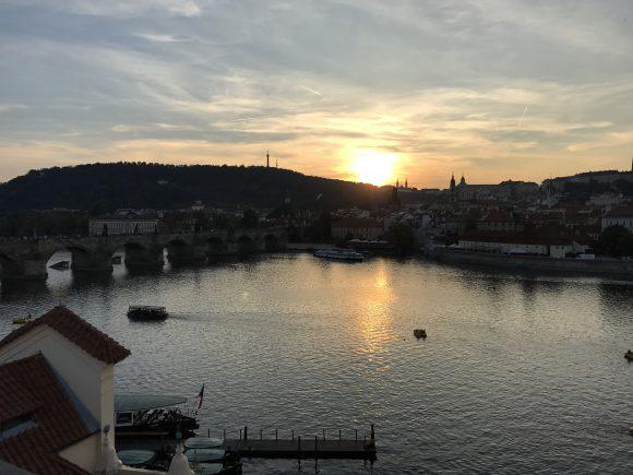 Terrance Roof Top Sunset Views - Four Seasons Hotel Prague