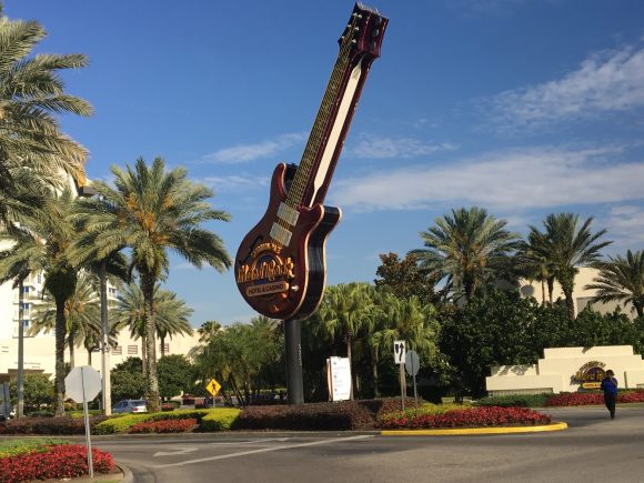 Guitar at the Entrance of the Seminole Hard Rock Hotel & Casino Tampa