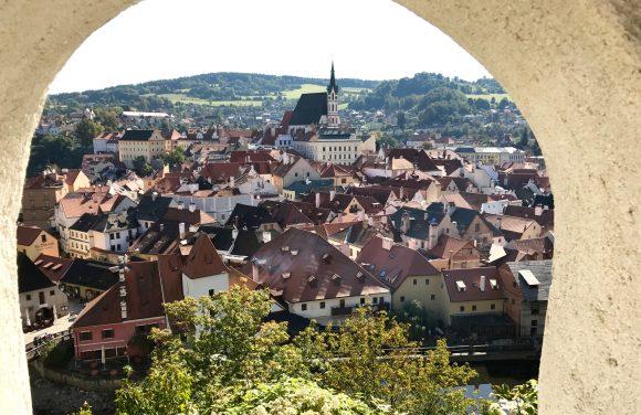The town of Cesky Krumlov in Czech Republic
