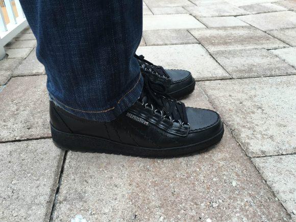 Mephisto Black Heritage Rainbow Mens Shoes