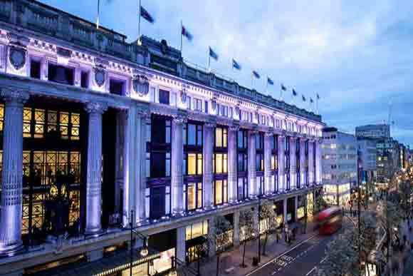 Selfridges & Co Shopping Center London (Image Visit London)