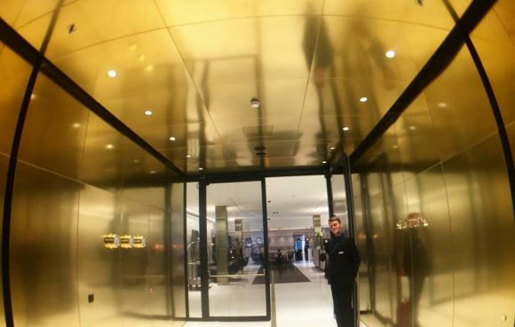 Entrance Door to the Le Meridien Hotel