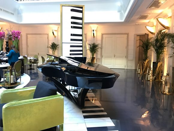 Gergely Boganyi Piano located in The Music Garden Courtyard - Aria Hotel Budapest