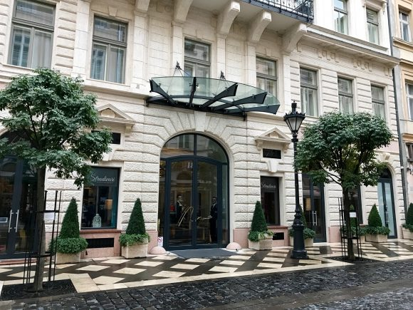 Front Entrance of the Aria Hotel Budapest