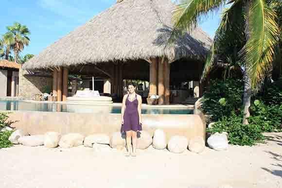 At the pool at Casa Majani
