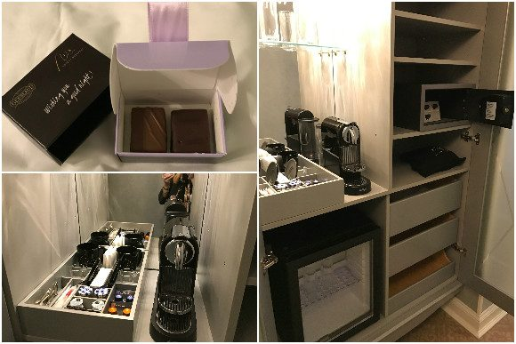 The Aria Signature King Room Amenities
