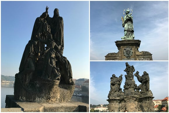 Baroque Statues on the Charles Bridge Prague