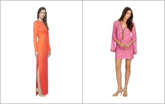 Aisha Long-Sleeve Long Dress and Jamila Short Embroidered Kaftan Dresses by SemSem