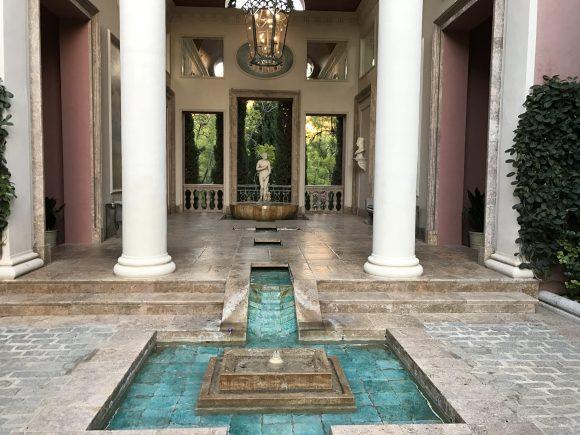 Fountains and Artwork at Villa Padierna Palace Hotel