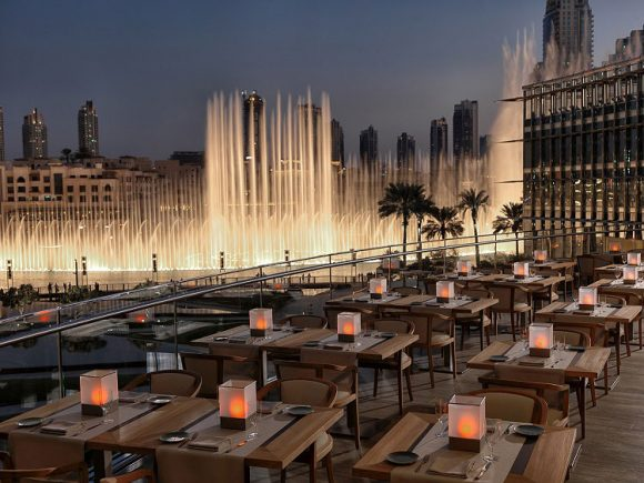 Armani Hotel Outdoor Terrace Burj Khalifa Dubai (Image: Arabian Business)