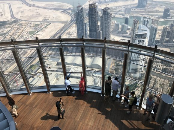 The observation deck of the 124th - Burj Khalifa