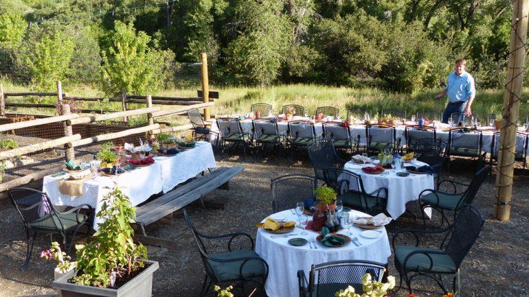 Meal at Smith Fork Ranch, Colorado