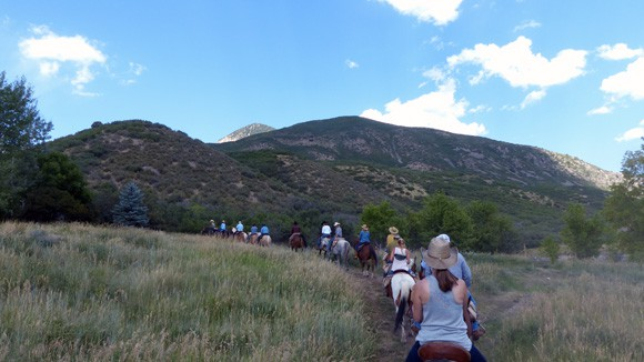 Breakfast Trail Ride at Smith Fork Ranch, Colorado