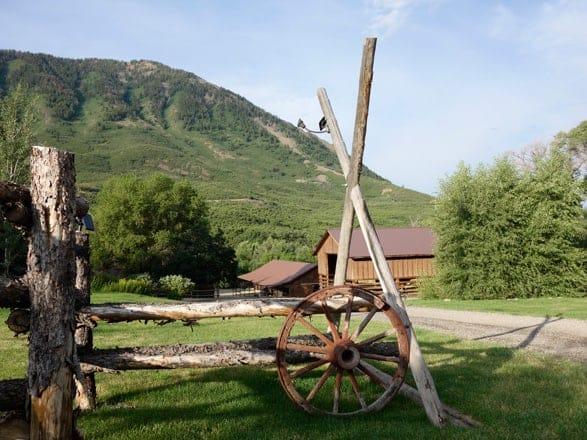 Wagon Wheel at Smith Fork Ranch, Colorado