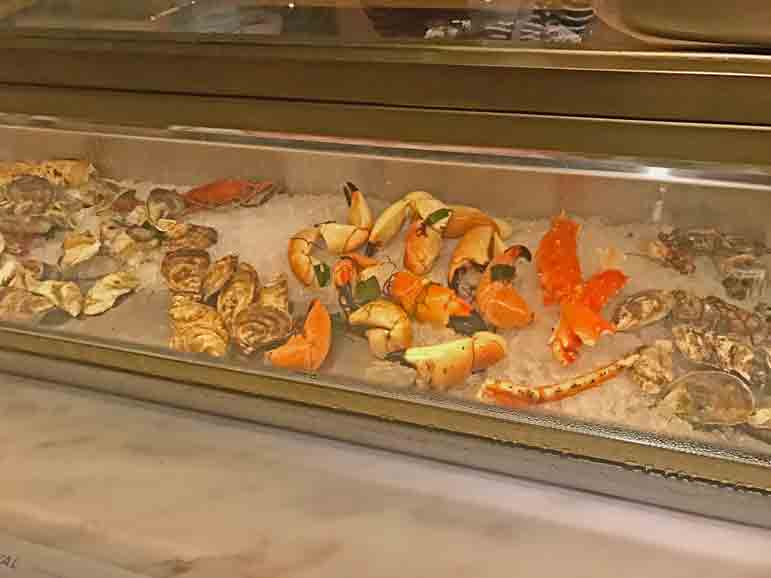 Oysters and Stone Crabs Selections - Point Royal photo by Carmen Edelson
