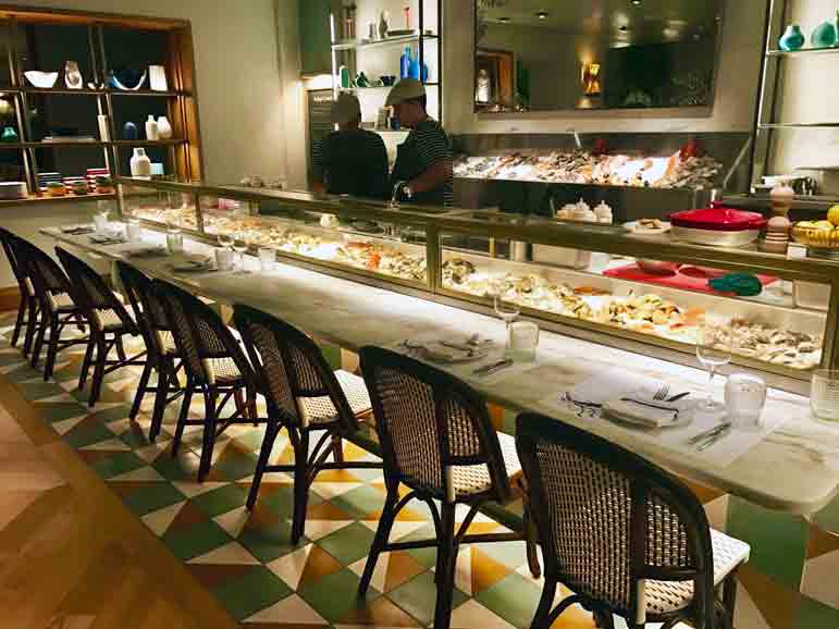 Seafood Bar at Point Royal photo by Carmen Edelson