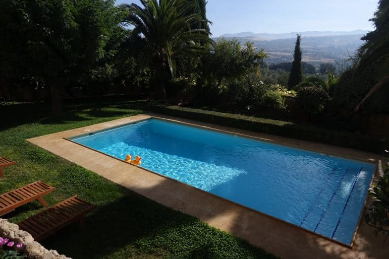 Pool Area of Hotel la Fuente de La Higuera, Ronda, Spain
