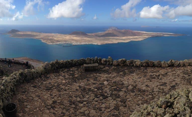 Mirador del Río looking at the island of La Graciso