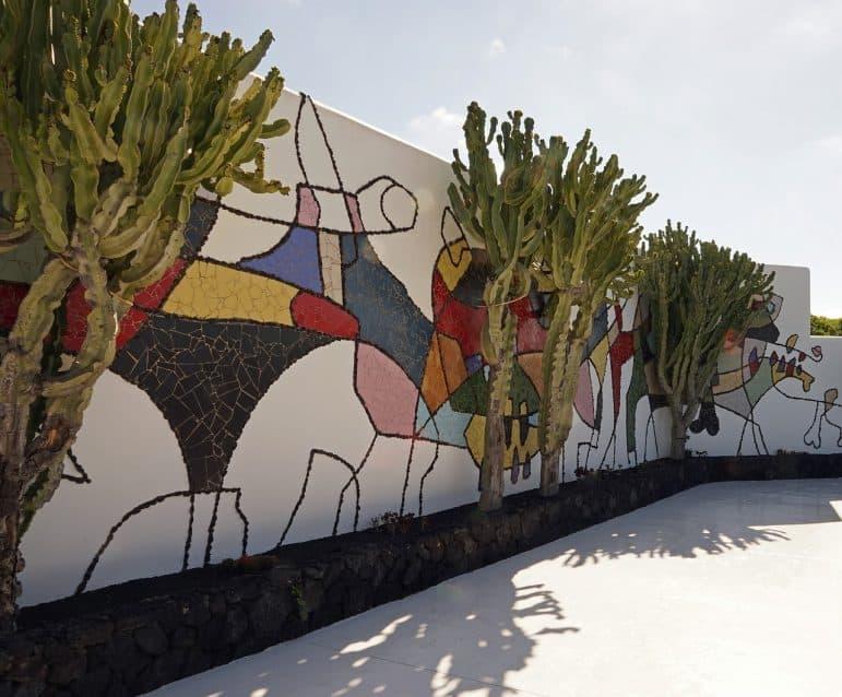A moral by artist César Manrique - Lanzarote