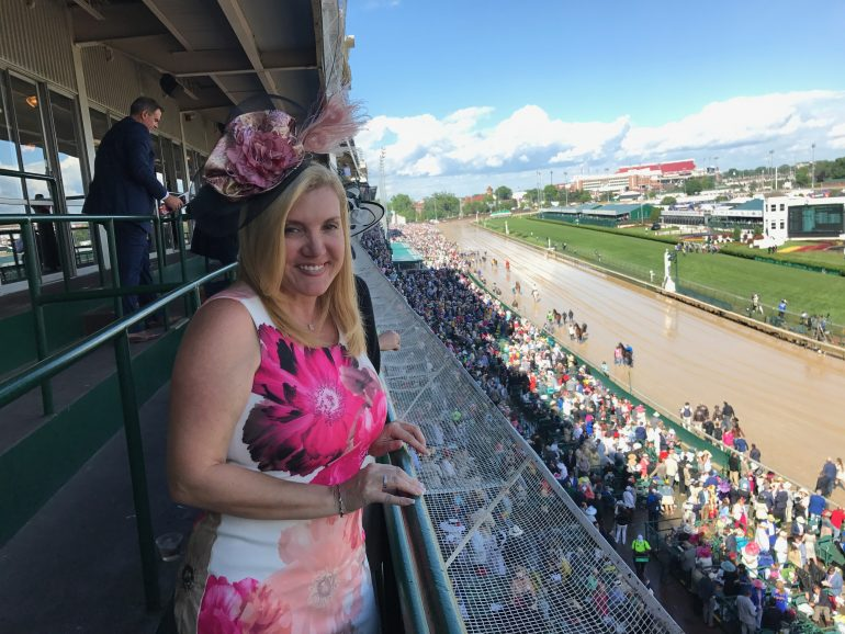 Waiting for the next race at the 143rd Kentucky Derby
