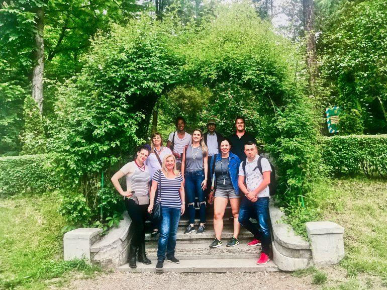 Our group at Chernivtsi University Park