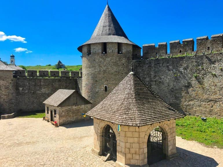 Khotyn Fortress Interior Courtyard