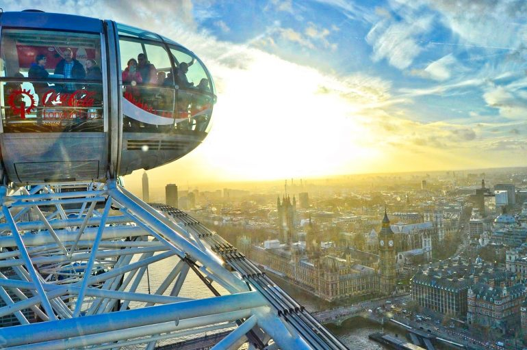 Seeing London from the Top of the London Eye