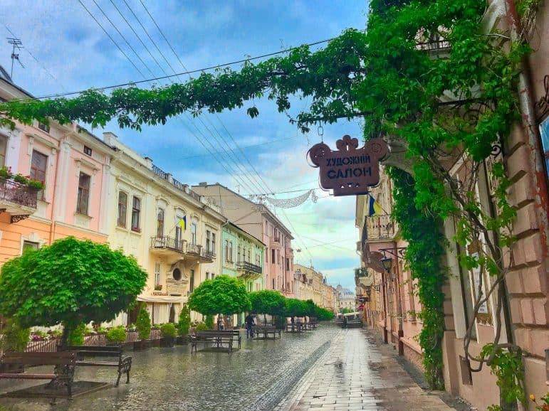 Olha Kobylyahska Street - Chernivtsi, Ukraine