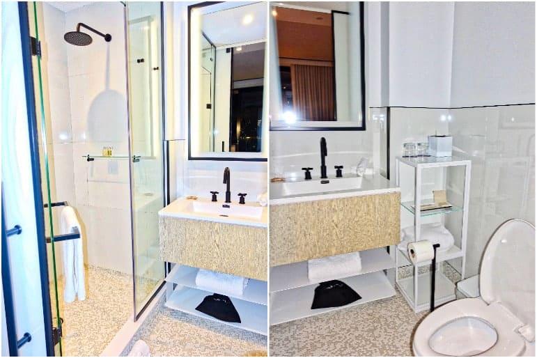 Gotham King Room Bathroom - The William Vale Hotel