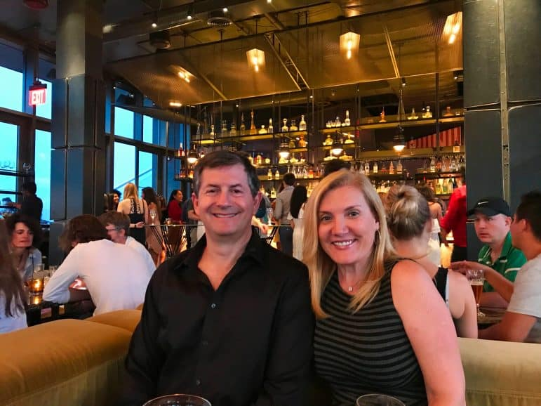 At the Westlight Rooftop Bar - The William Vale Hotel