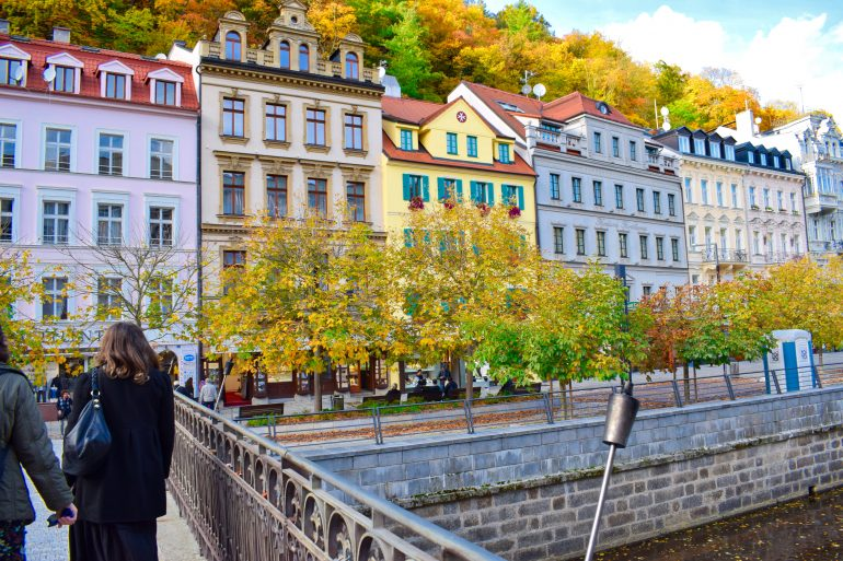 Buildings of Karlovy Vary, Czech Republic