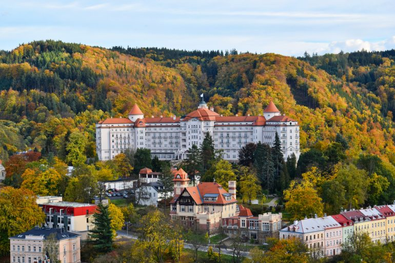 Hotel Imperial Spa & Health Club view from Karlovy Vary hills