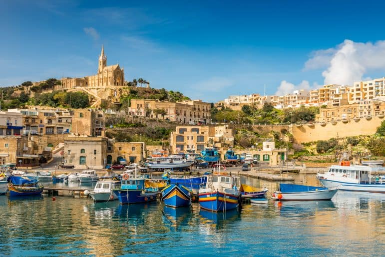 Mgarr Harbour in Gozo, Malta