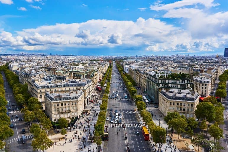 View of Champs Elysees, Paris