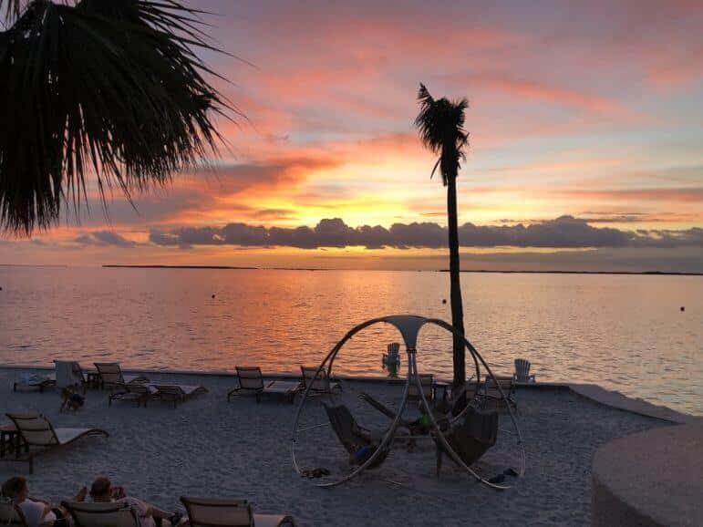 Admiring the sunset from the Beach Bar at Playa Largo Resort & Spa - Key Largo