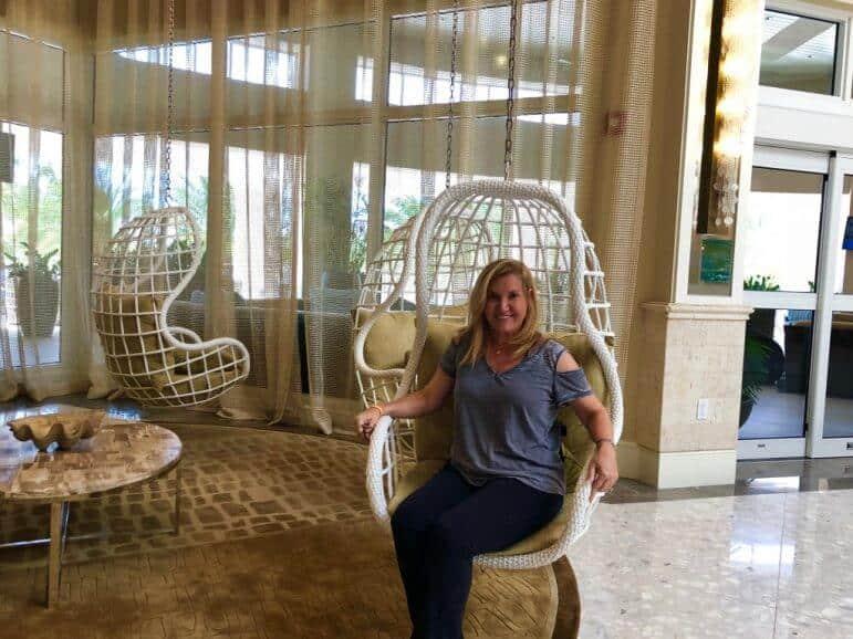 Enjoying the Hanging Chairs at Playa Largo Resort & Spa - Key Largo