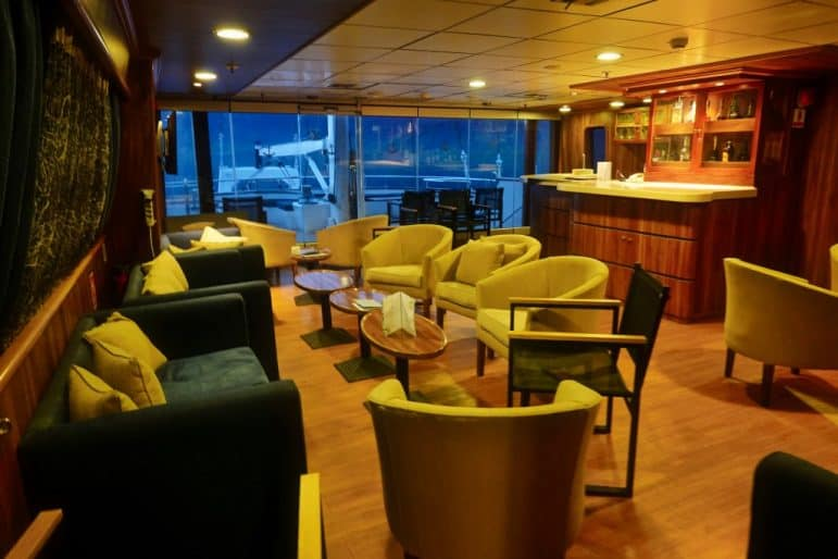 Upper Deck Bar Lounge Area onboard the M/S Panorama