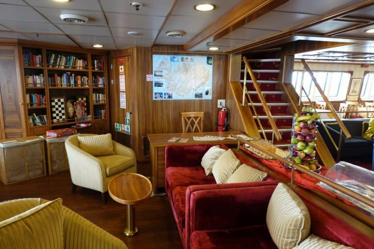 Main Deck Lounge and Library Area - M/S Panorama