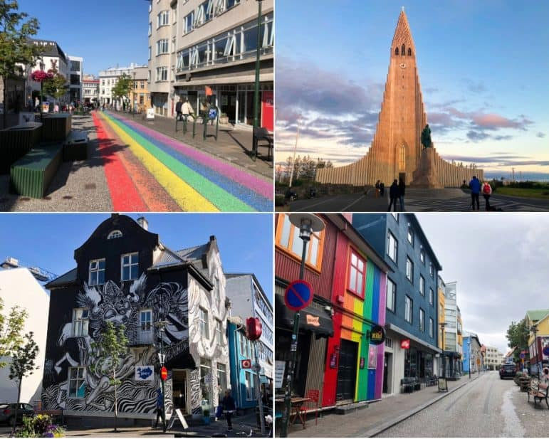 The city of Reykjavik, Iceland