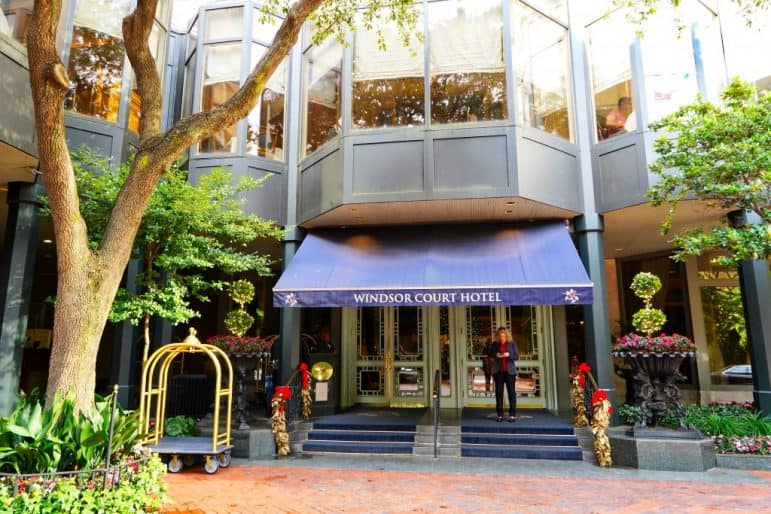 Windsor Court Hotel New Orleans Entrance