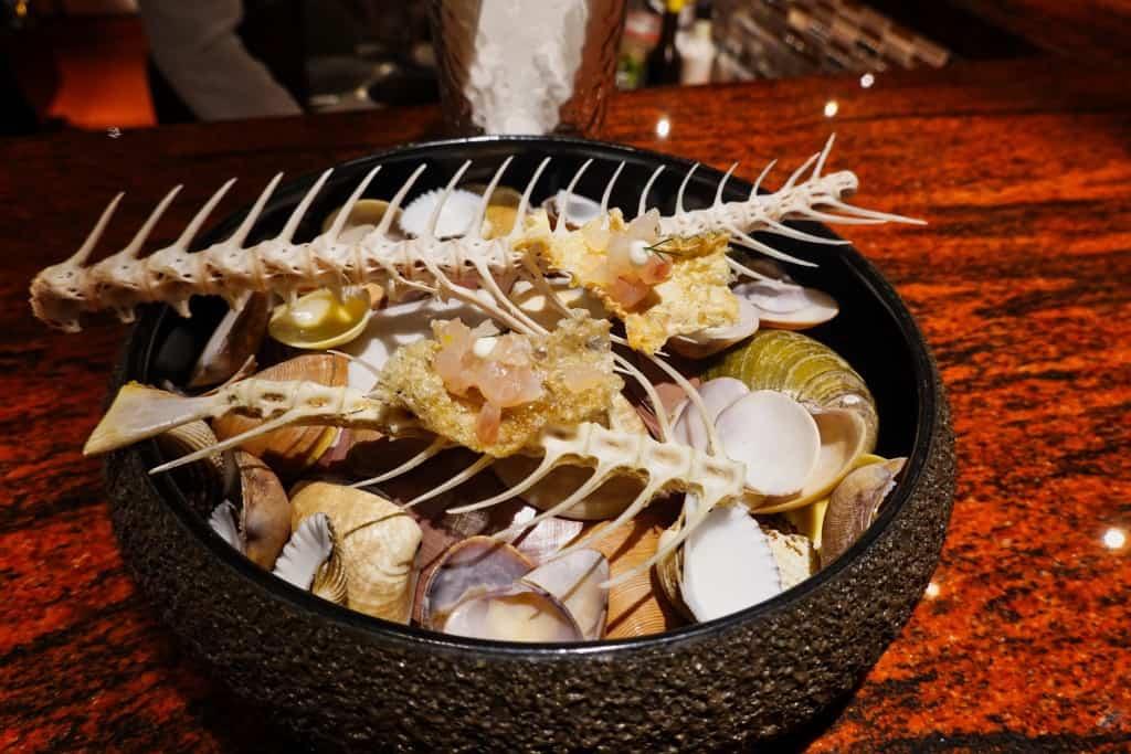 Fish Crudo Canapes - Aperitif Restaurant Ubud