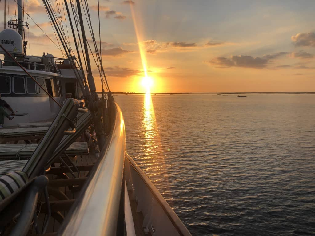 Beautiful Sunset Views from onboard the M/S Panorama