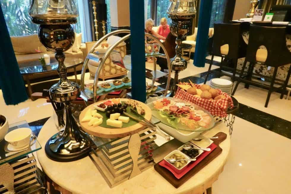 The Club Lounge Food Selection - The Trans Resort Bali
