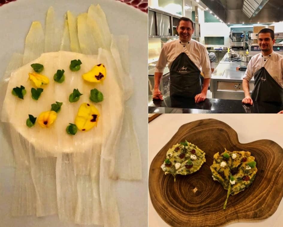 Meal creations by Executive Chef Nic Vanderbeeken and Pastry chef Alexander McKinstry at Apéritif Restaurant Ubud