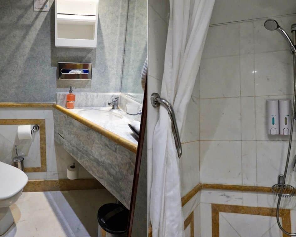 Category B Cabin Bathroom onboard M/S Panorama II